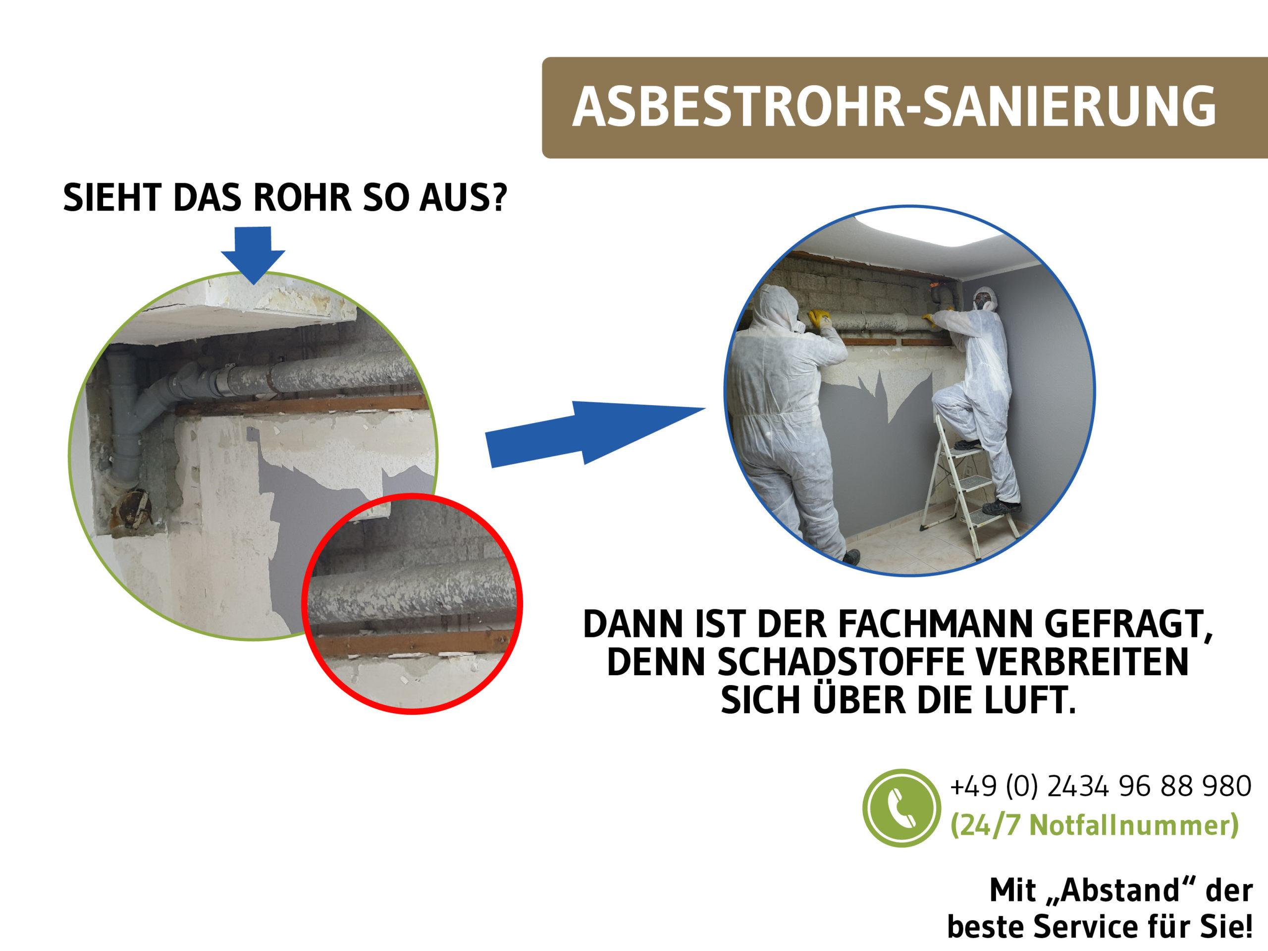 Woran kann man erkennen, das es sich um ein asbesthaltiges Rohr handelt.
